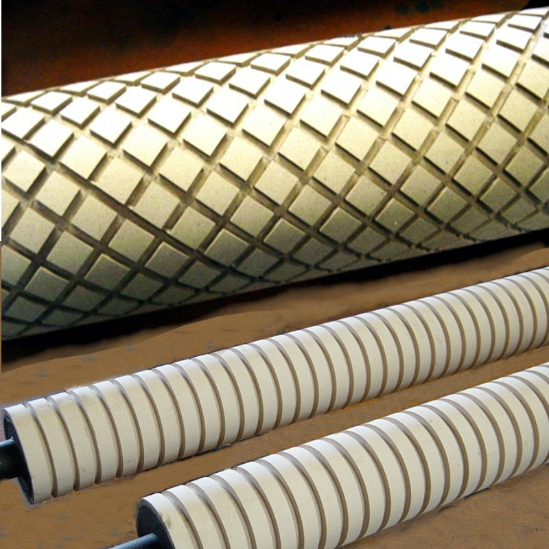 Diamond- & Ring- Groove Rubber Roll